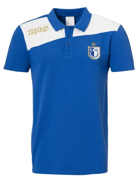FCM Polo Shirt Freizeit / azure blue/white