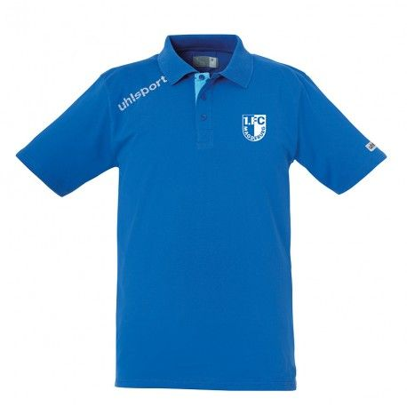 FCM Essential Polo Shirt / azurblau