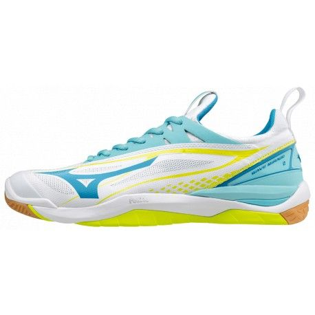 Mizuno Wave Mirage 2 - Damen / Wht/Divablue/SYellow